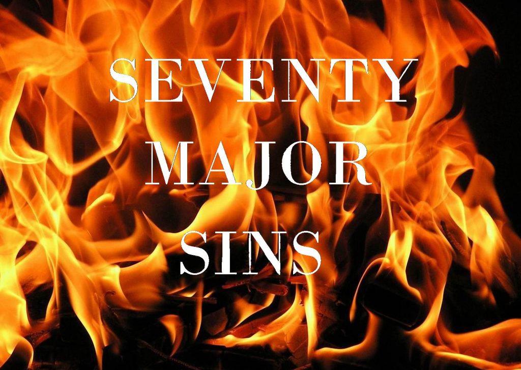 70 major sins in islam