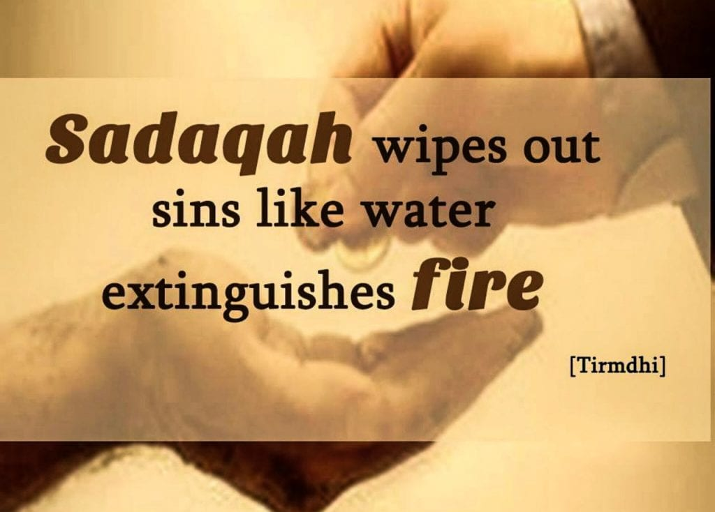 how to deal with difficult situations by sadaqah